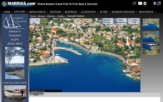 Screenshot Marinas.com