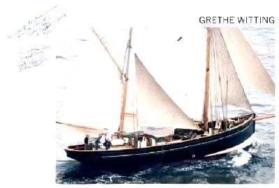 Ansichtskarte der Grethe Witting (Foto: Lowestoft & East Suffolk Maritime Museum)