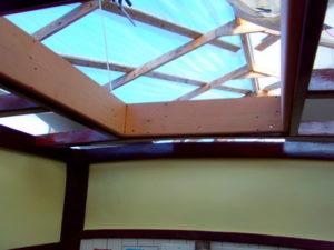 neue Konstruktion und Position des Skylights
